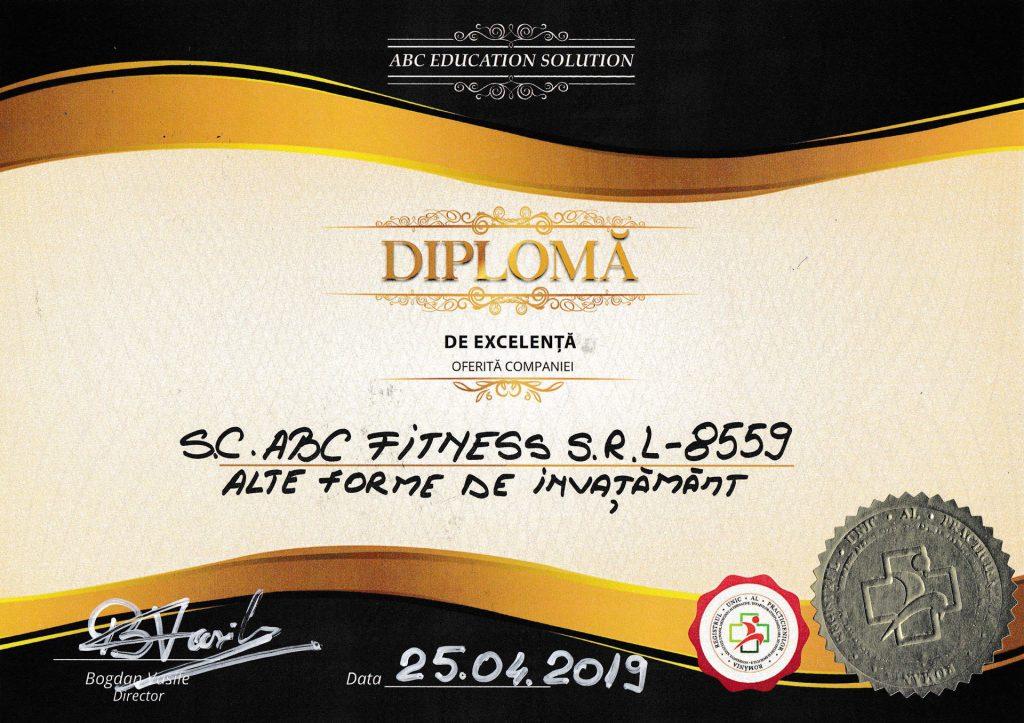 diploma excelenta abc fitness
